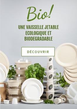 Vaisselle jetable bio